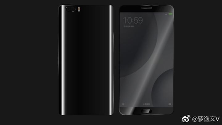 Стеклянный корпус идвойная камера нарендерах Xiaomi Mi6