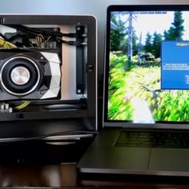 Внешняя видеокарта увеличивает мощность MacBook Pro в 4 раза