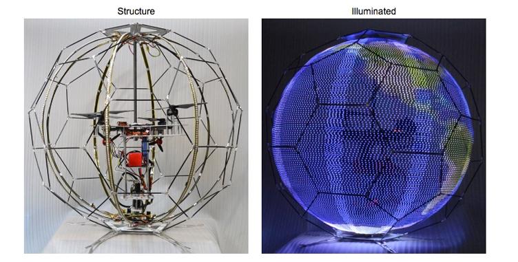 ВЯпонии разработали 1-ый  вмире сферический беспилотный экран