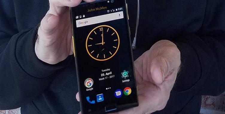Джон Макафи продемонстрировал прототип самого защищенного отвзлома телефона