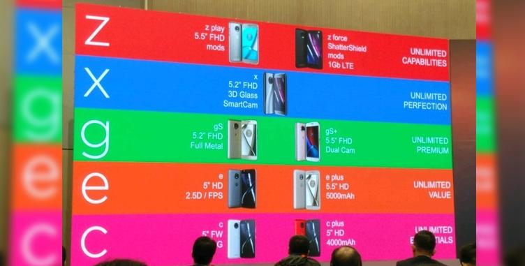 Произошла утечка названий ихарактеристик телефонов Moto 2017 года
