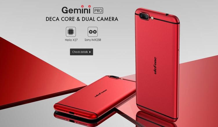 Ulefone Gemini Pro сдвойной 13-Мп камерой представлен официально