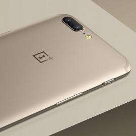 OnePlus 5 вышел в золотом цвете