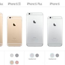 ������� iPhone 6 � iPhone 5S ������ �� ���������, iPhone 5C ���� � ������������