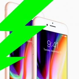 Емкость аккумулятора iPhone 8 деградирует