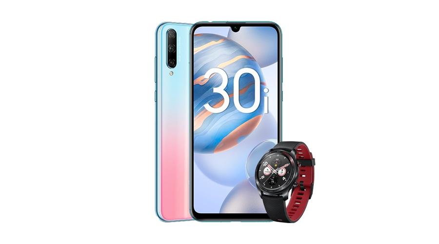 Недорогой смартфон Honor 30i приехал в Россию. За его покупку обещают подарить часы
