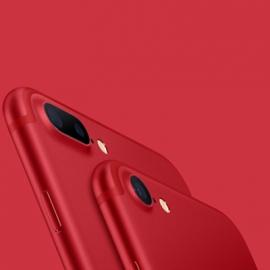 Седьмой iPhone вышел в красном цвете