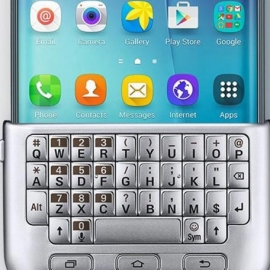 Samsung презентует ретро-клавиатуру для нового изогнутого смартфона